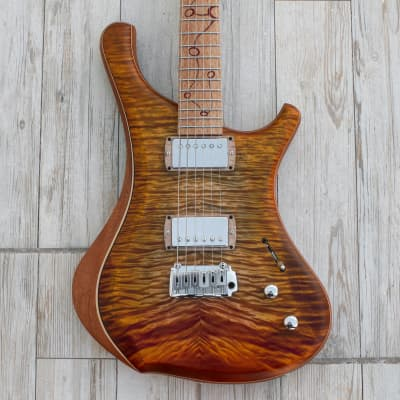 Alejandro Ramirez - o3 guitars Hydrogen  2020 Fire eats yellow for sale