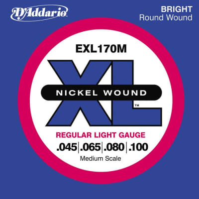 D'Addario EXL170M XL Nickel Bass String Light/Medium Scale 45-100