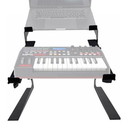 Rockville Dual Shelf Laptop+Controller Stand for Akai MPK225 Keyboard