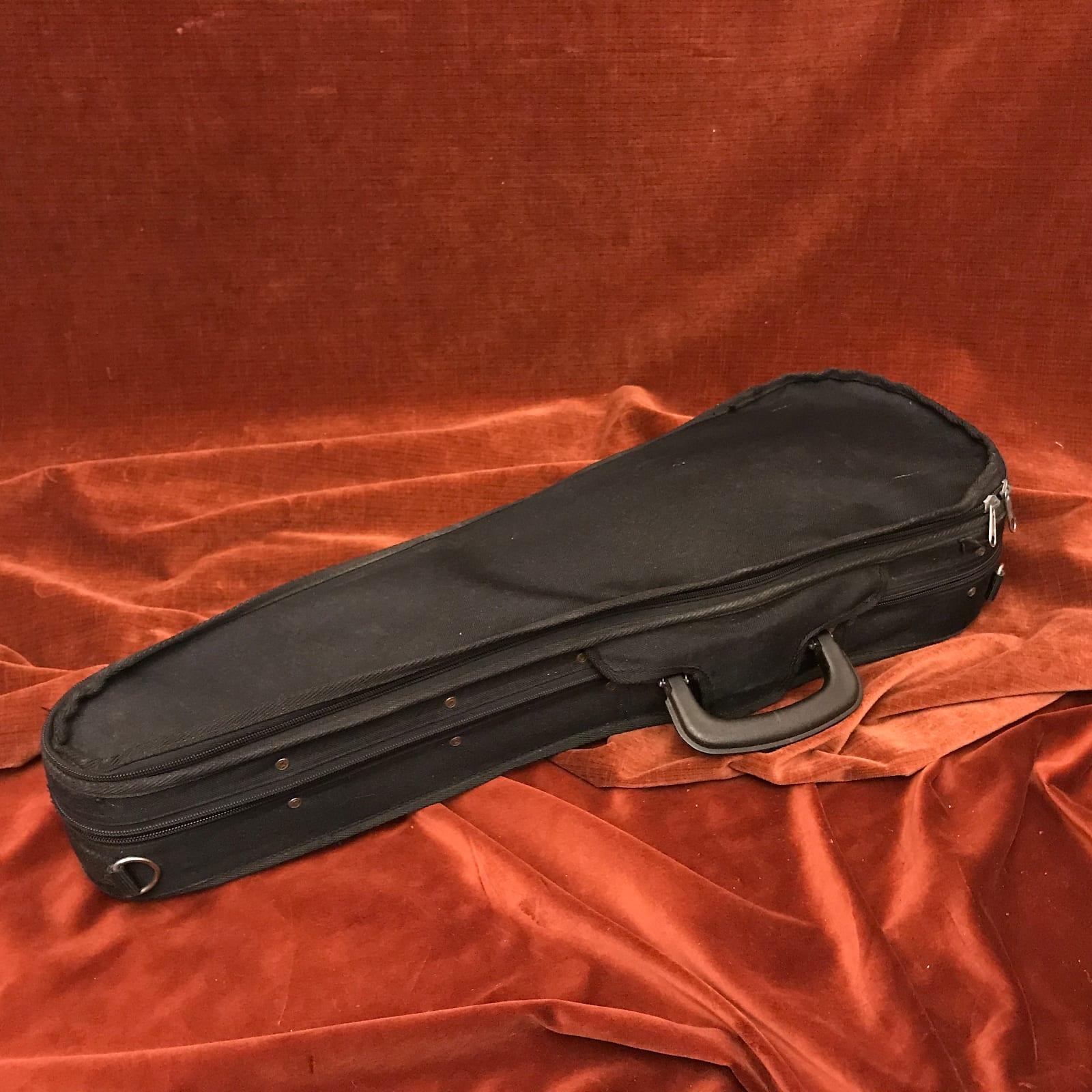 Unbranded 3/4-Size Violin Case Black w/ Red Interior
