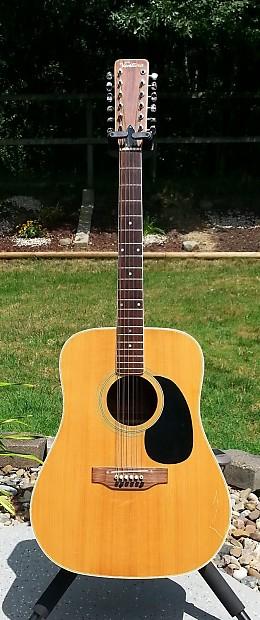 Very Rare Vintage Lawsuit Ventura V 697 12 String Acoustic Reverb