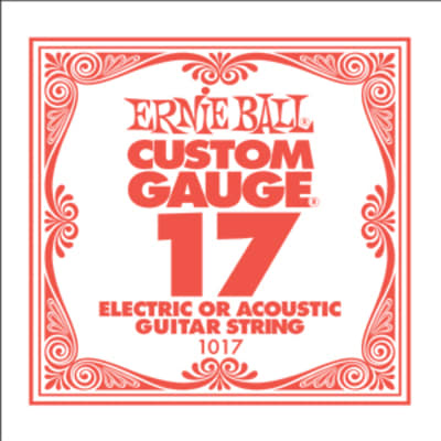 Ernie Ball .017 Single Plain Steel String