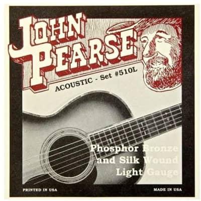 John Pearse 510L SILKS Acoustic Guitar Strings - Phosphor Bronze & Silk Light