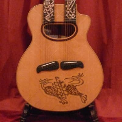 BLUEBERRY CELTIC BIRDS   Twin Neck Acoustic 2010 Aged Natural Satin for sale
