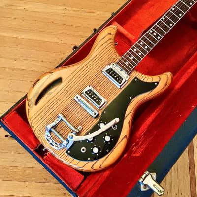 Kustom K200 deluxe c 1968 Zebrawood original vintage usa k-200 roger rossmeisl bigsby for sale