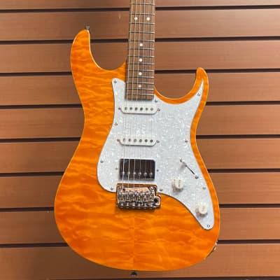 Tagima Stella DW 2021 Electric Guitar Transparent Amber for sale