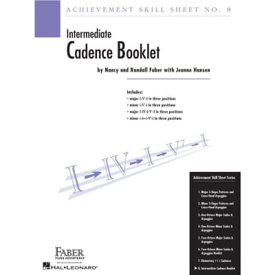 Achievement Skill Sheet No. 8: Intermediate Cadence Booklet
