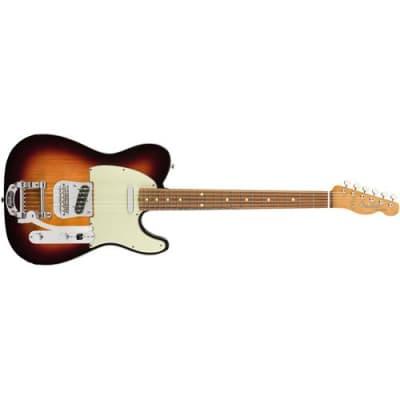 Fender Vintera '60s Telecaster Bigsby Electric Guitar, 21 Frets, Early '60s  C  Shape Neck, Pau Ferro Fingerboard, Gloss Polyester, 3-Color Sunburst for sale