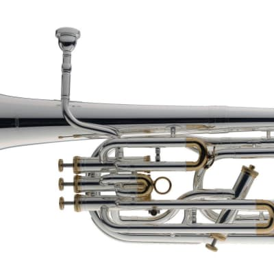 Stagg Professional Bb Baritone Silver Plated with Soft Case - LV-BH5411