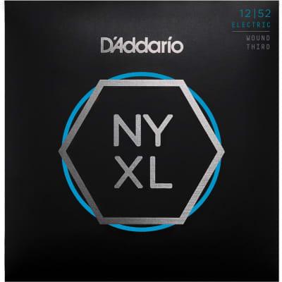D'Addario NYXL1252W Nickel Wound Electric Guitar Strings - Light Wound 3rd - 12-52 Gauge
