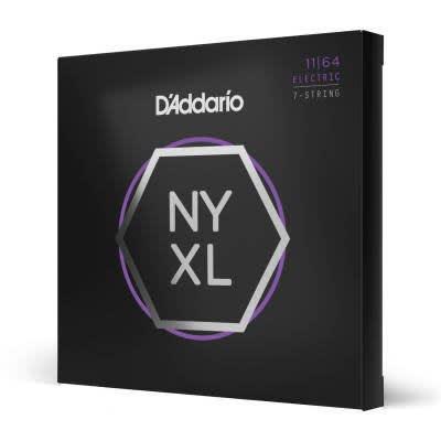 D'Addario NYXL1164 Nickel Wound 7-String Electric Guitar Strings, Medium, 11-64