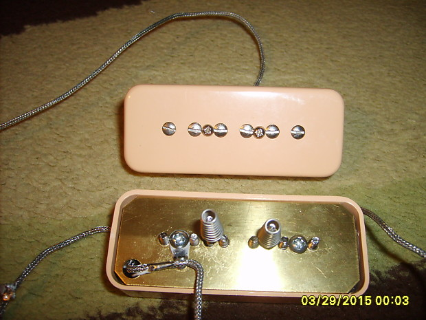 gibson p90 pickup set w creme soapbar covers complete wiring reverb. Black Bedroom Furniture Sets. Home Design Ideas