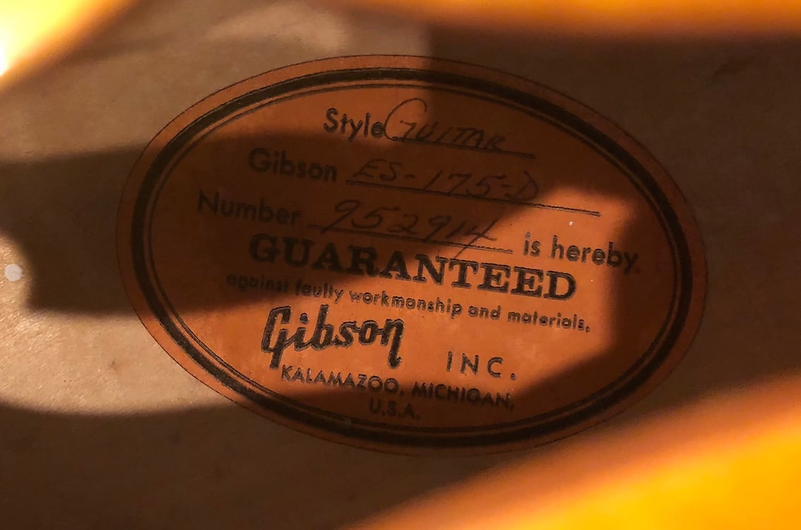 Gibson ES-175D 1968-1970 Cherry Sunburst
