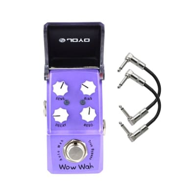 Joyo JF-322 Wow Wah - Auto Wah Ironman Mini Guitar Effects Pedal with Patch Cables for sale