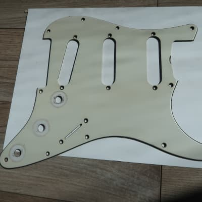 Fender Stratocaster Pickguard Pearl Back  for 67 thru 70   White / Cream 68 69  USA avri