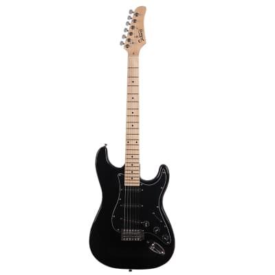 Glarry GST Electric Guitar Black for sale