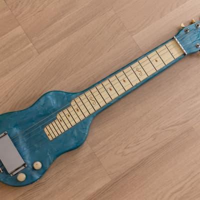 1950s Magnatone Vintage Lap Steel Blue Pearloid w/ Case for sale