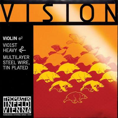 Thomastik Thomastik Vision 4/4 Violin E String - Thick(Stark) Gauge - Tin Plated Multilayer Carbon Steel