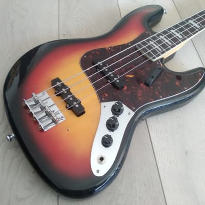Morris/Moridaira Jazz Bass-H.S. Anderson 1970s Sunburst for sale