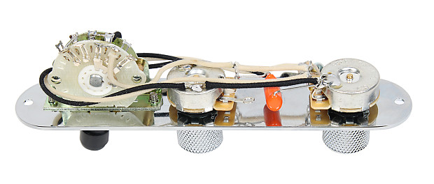 Fender Tele Telecaster 4 Way Reverse Control Plate wOak Reverb