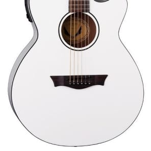 Dean AXcess Performer Acoustic/Electric Guitar, White, AX PE CWH for sale