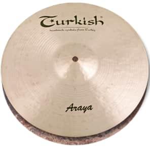 "Turkish Cymbals 14"" Custom Series Araya Hi-Hat Flat Hole A-HF14 (Pair)"