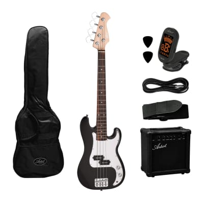 Artist MiniP 3/4 Size  Electric Bass Guitar + Amp and Accessories for sale