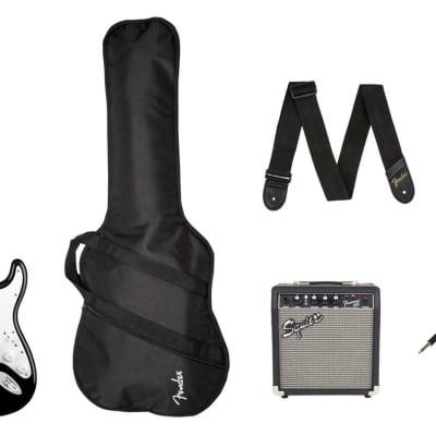 Squier 0371823006 Stratocaster® Pack, Laurel Fingerboard, Black, Gig Bag, 10G - 120V 2020 for sale