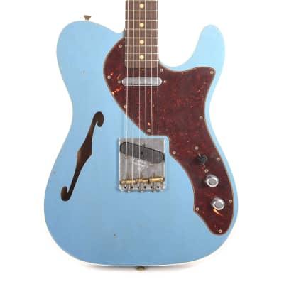 Fender Custom Shop Limited Edition '60s Telecaster Thinline Custom Journeyman Faded Aged Lake Placid Blue (Serial #CZ541876) for sale