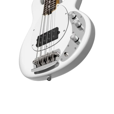 Sterling by Music Man RAY Short Scale StingRay 4 Olympic White Bass Guitar for sale