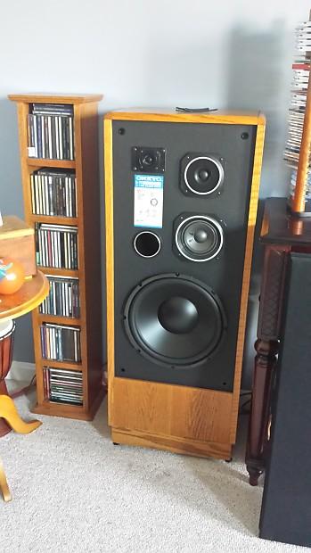 Onkyo S-70 Speakers  All new Woofers and Tweeters  Real oak veneer
