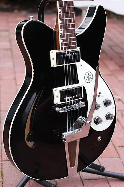 1971 yamaha sa 15 black vintage archtop electric guitar with reverb. Black Bedroom Furniture Sets. Home Design Ideas