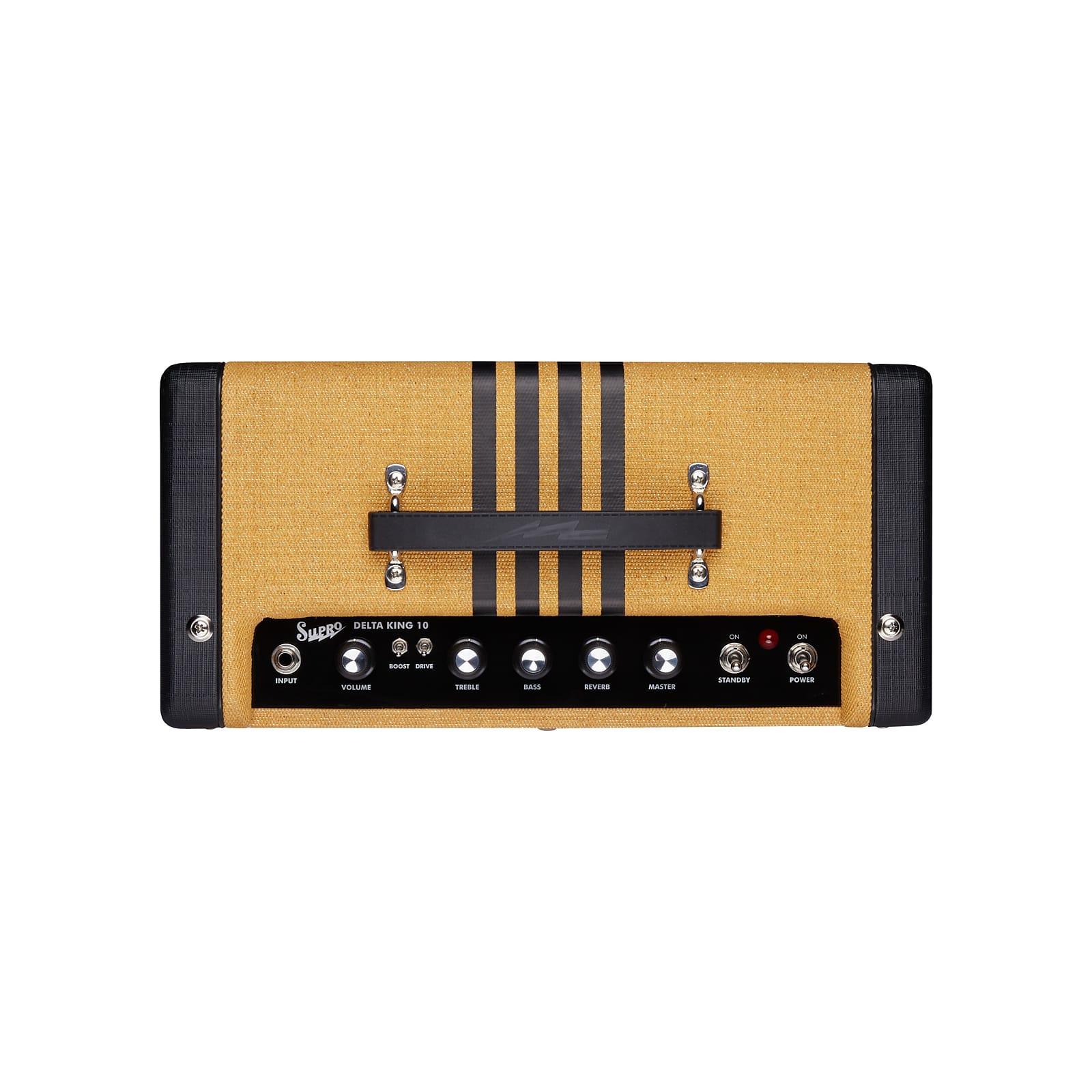 Supro 1820RTB Delta King 10 5W 1x10'' Guitar Tube Combo Amplifier Tweed & Black