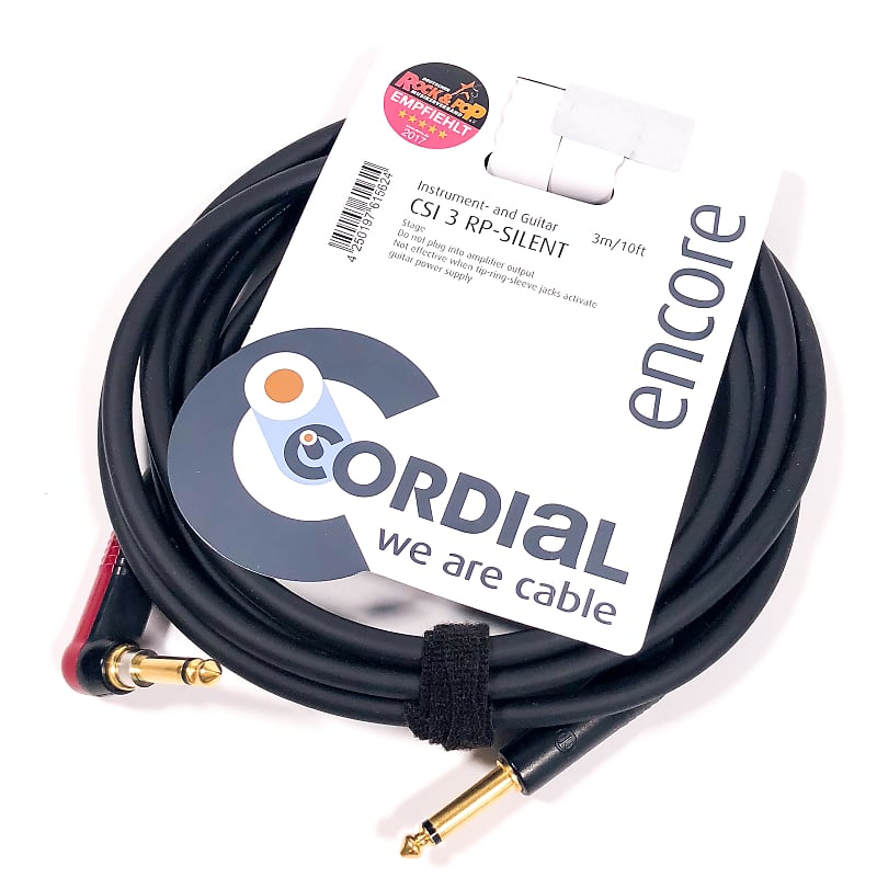 Cordial 3m /~10ft Premium High-Copper German Inst  Cable, 1/4