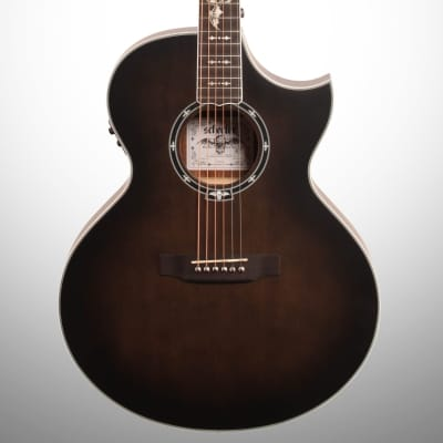 Schecter Synyster Gates Acoustic-Electric Guitar, Transparent Black Satin for sale