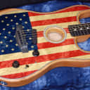 NEW! Fender Limited Edition American Acoustasonic Stratocaster American Flag Authorized Dealer RARE!