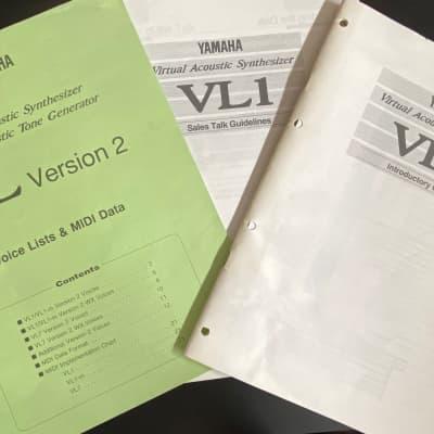 Yamaha VL-1 Manuali utente Originale