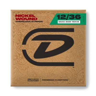Dunlop DJN1236 Banjo Strings, Nickel, Irish Tenor, .012–.036, 4 Strings/Set