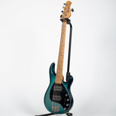 Ernie Ball Music Man StingRay Special 5 HH Bass Guitar - Frost Green Pearl for sale