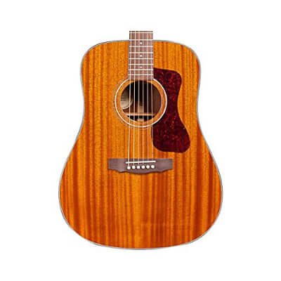 Guild D-120 NAT Natural Acoustic Dreadnought All Mahogany Guitar with Guild Poly Foam Case for sale