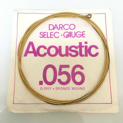 Vintage Darco Selec Gauge Acoustic Bronze Wound String .056