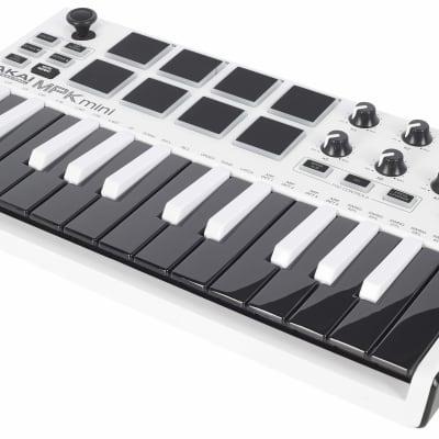 Akai Professional MPK Mini mkII Keyboard Controller White with Reverse Keys