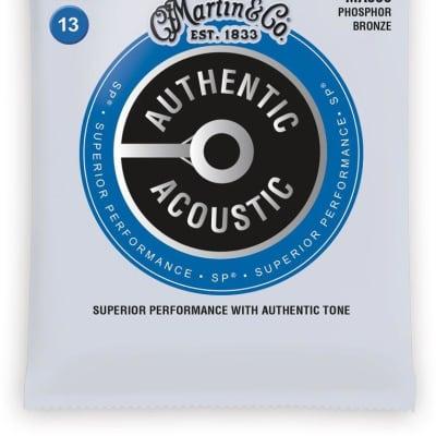 Martin Authentic Acoustic Phosphor Bronze Acoustic Guitar Strings - 13-56