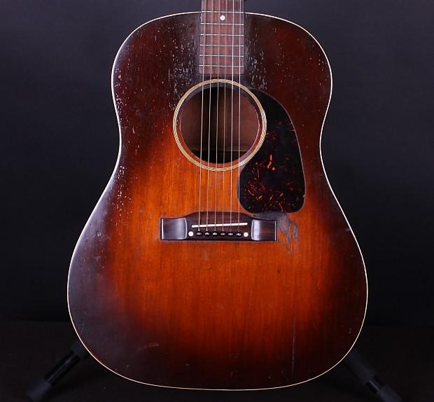 1943 gibson banner j 45 guitar sunburst vintage acoustic reverb. Black Bedroom Furniture Sets. Home Design Ideas