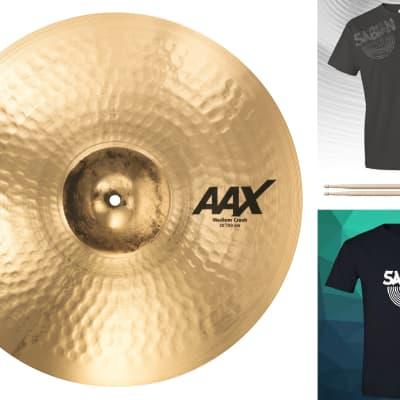"Sabian AAX 20"" Medium Crash Cymbal Brilliant Finish Bundle & Save Made in Canada | Authorized Dealer"