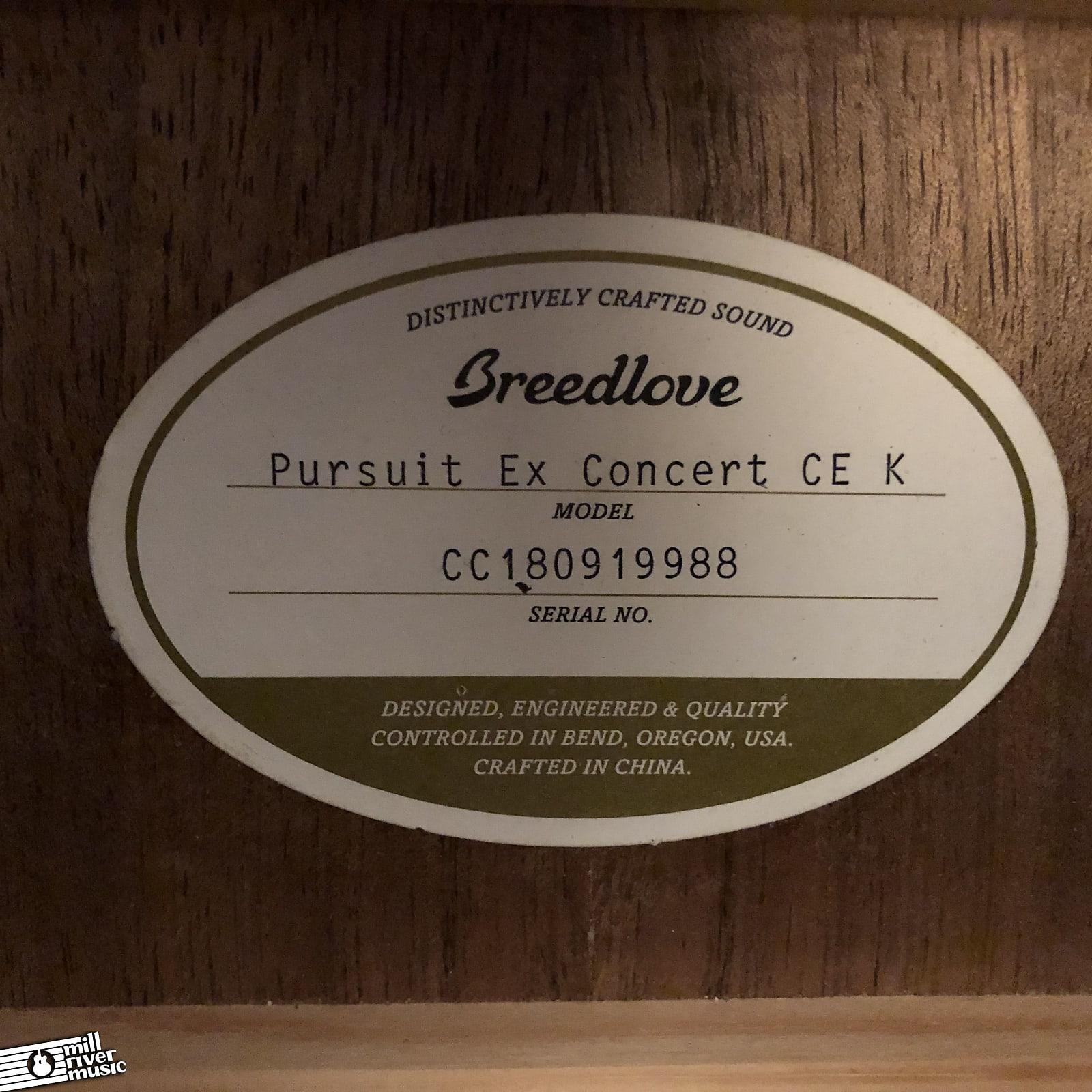 Breedlove Pursuit Exotic Concert CE Sitka / Koa Whiskey Burst w/ Gig Bag
