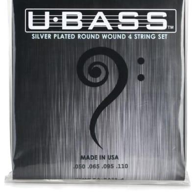 Kala 4-String U-Bass Silver Plate Round Wound Bass Set