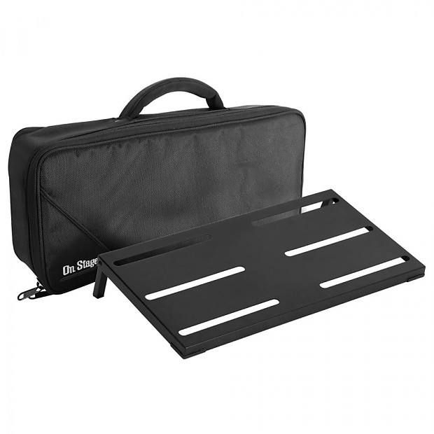 on stage gpb4000 guitar keyboard pedal board z string music reverb. Black Bedroom Furniture Sets. Home Design Ideas