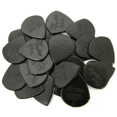 "Dunlop 47R3S ""Stiffo"" Nylon Jazz III 1.38mm Sharp Point-Tip Guitar Picks (24-Pack)"