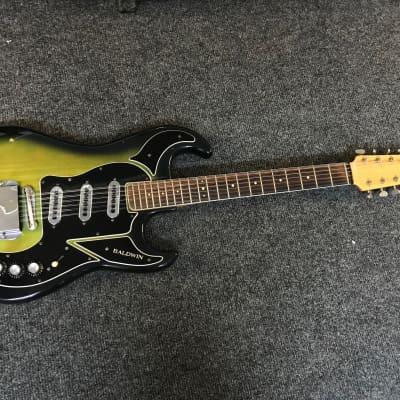 Baldwin Burns Double Six Green 12 String Electric Guitar for sale
